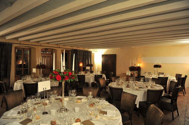 Grande salle du Château Le Rosey à Bursins