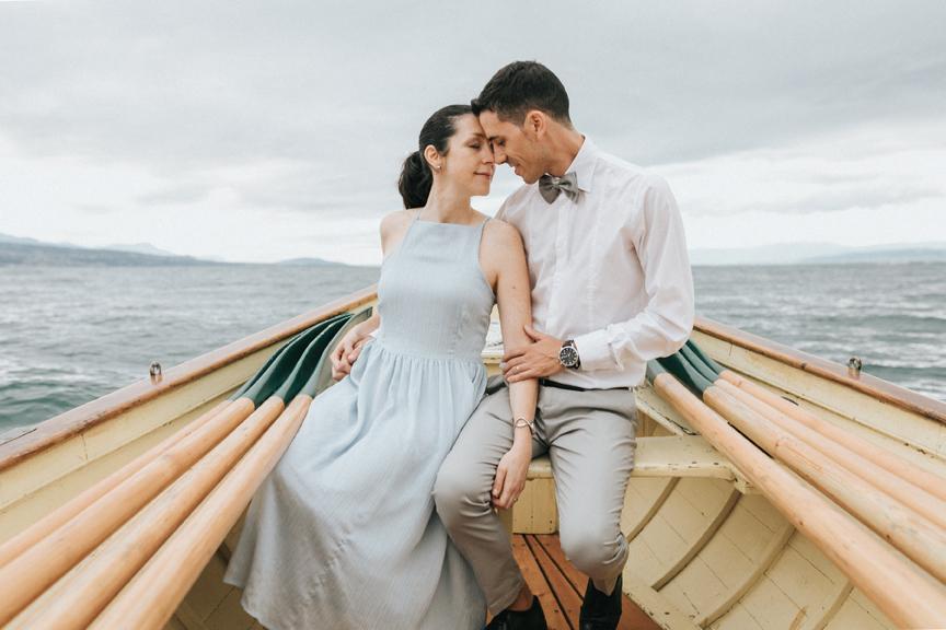 couple bateau