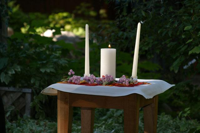 rituels de cérémonie laïque: les bougies