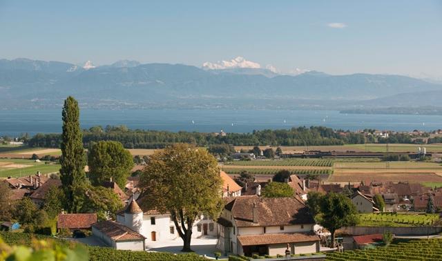 Vue depuis le Château Le Rosey à Bursins