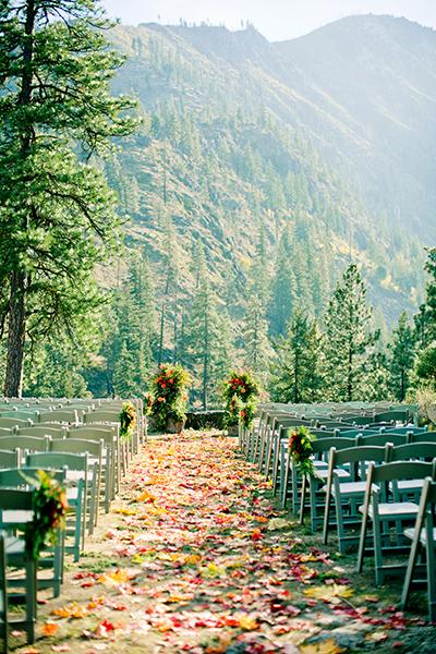 allée automne décoration cérémonie laïque