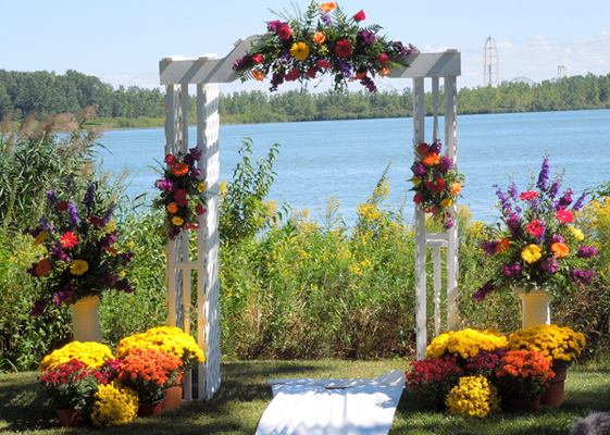 arche décoration cérémonie laïque
