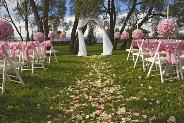 chaises tissu décoration cérémonie laïque