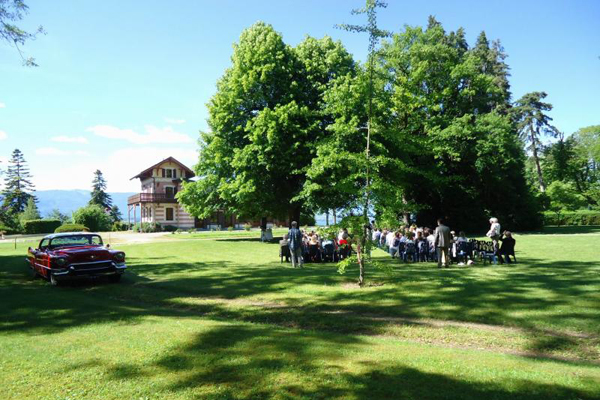 ceremonie laique bord lac leman hermancia