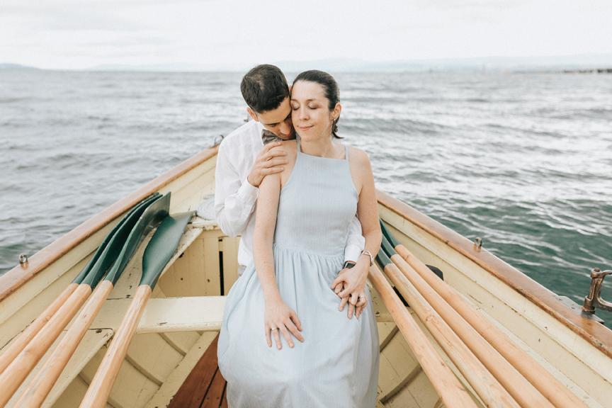 séance amoureux barque