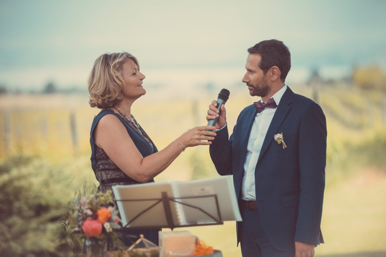 Introduction de cérémonie laïque par les parents de la mariée