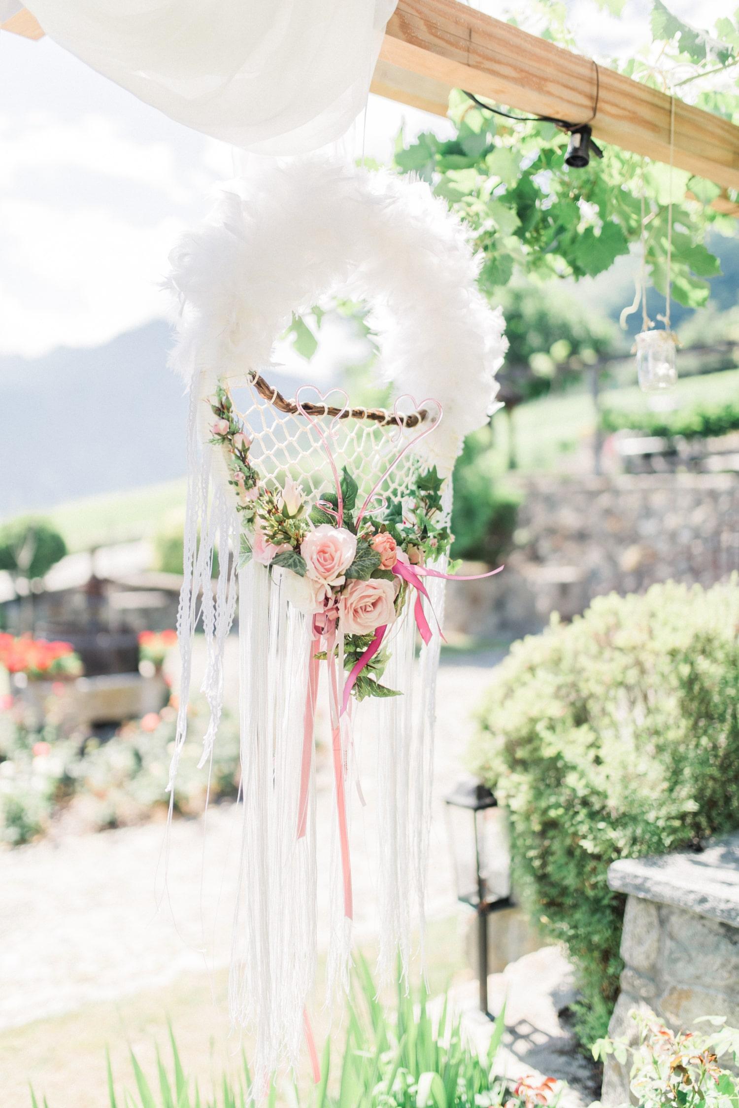 Attrape-rêve en décoration de cérémonie laïque