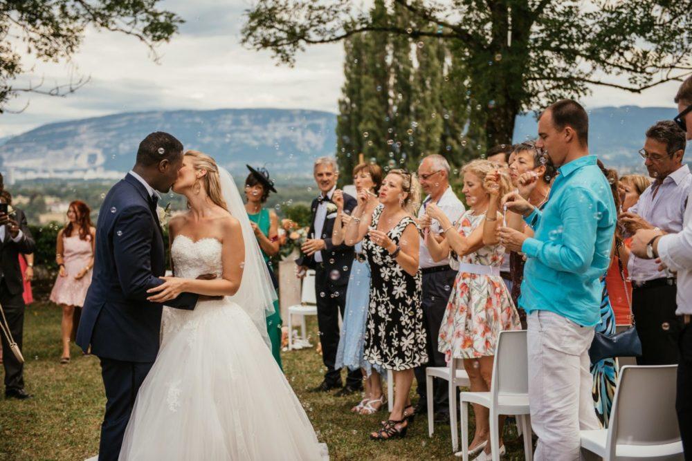 Cérémonie de mariage à Choully près de Genève