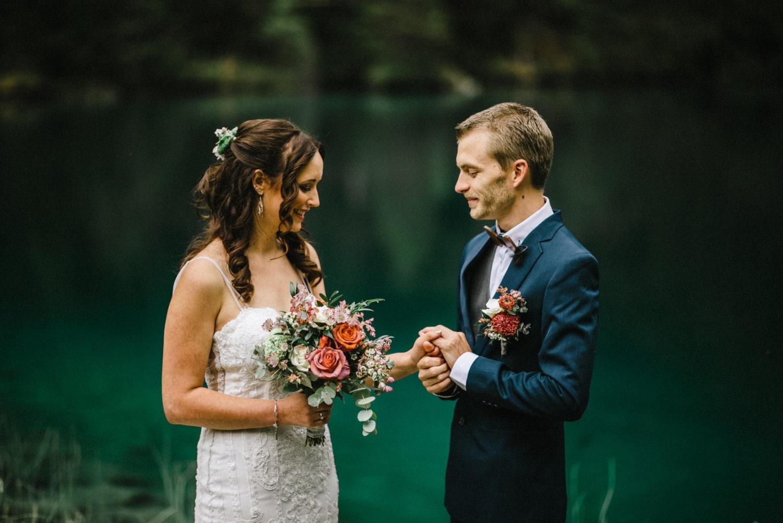 Echange de voeux lors d'un elopement