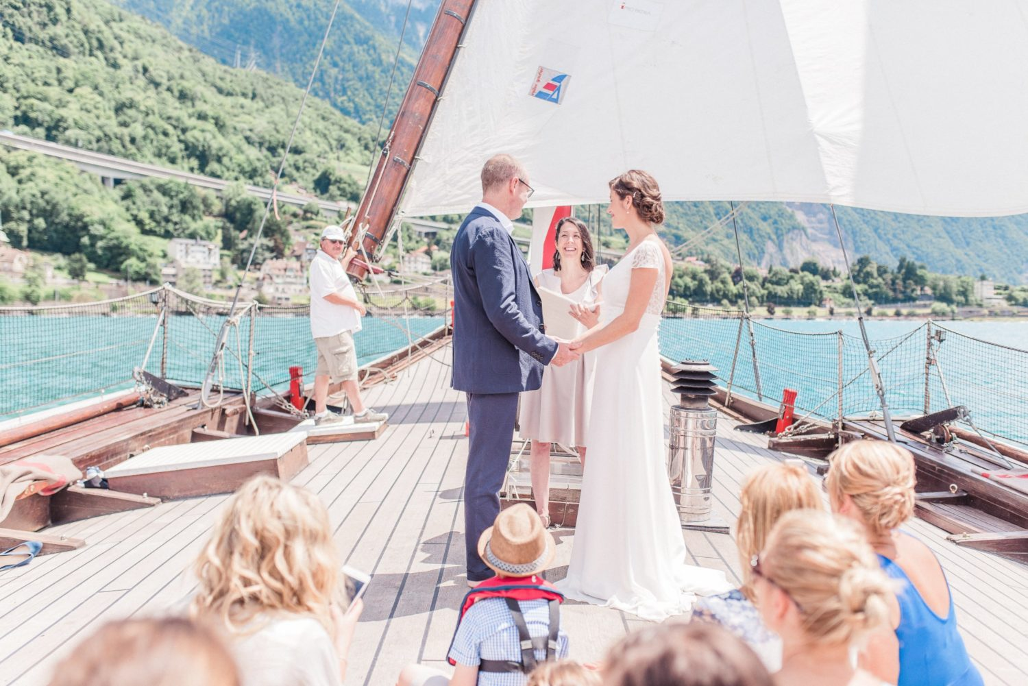 Elopement on a boat