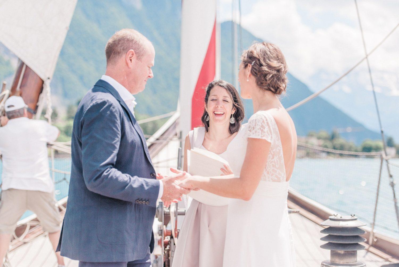 Wedding on lake Geneva