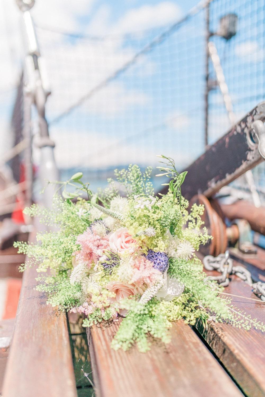 Wedding on a boat in Switzerland