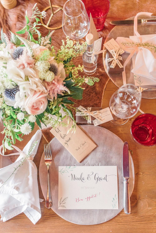 Wedding in a chalet in Switzerland