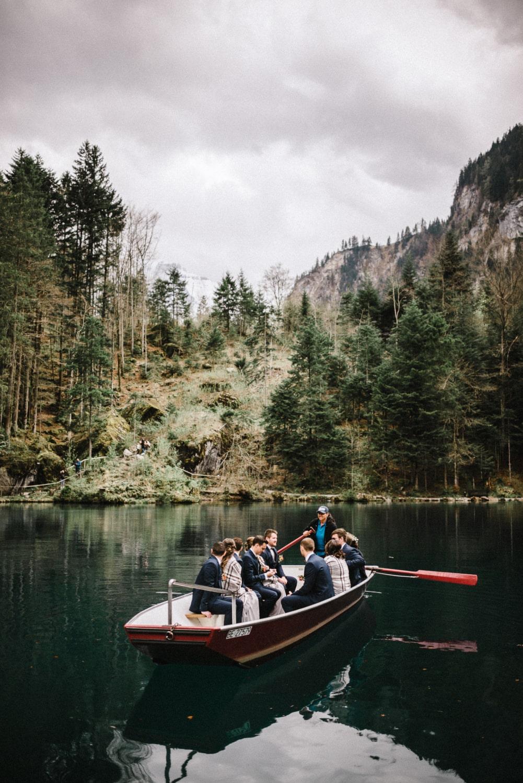 Un mariage à Blausee en petit comité
