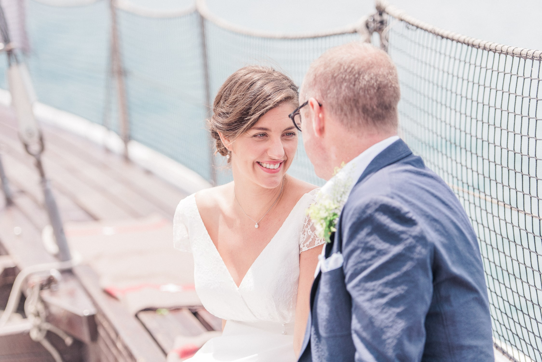 Elopement wedding on Lake Geneva, Couple in Love
