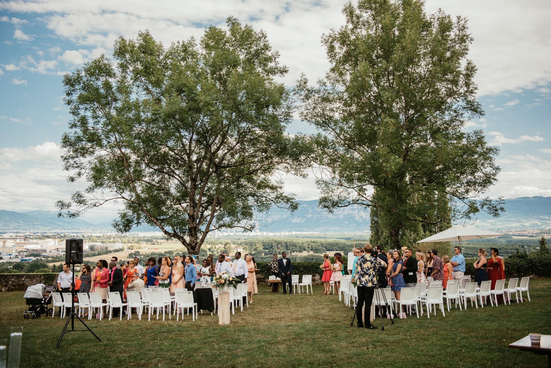 mariage laïque à Choully près de Genève