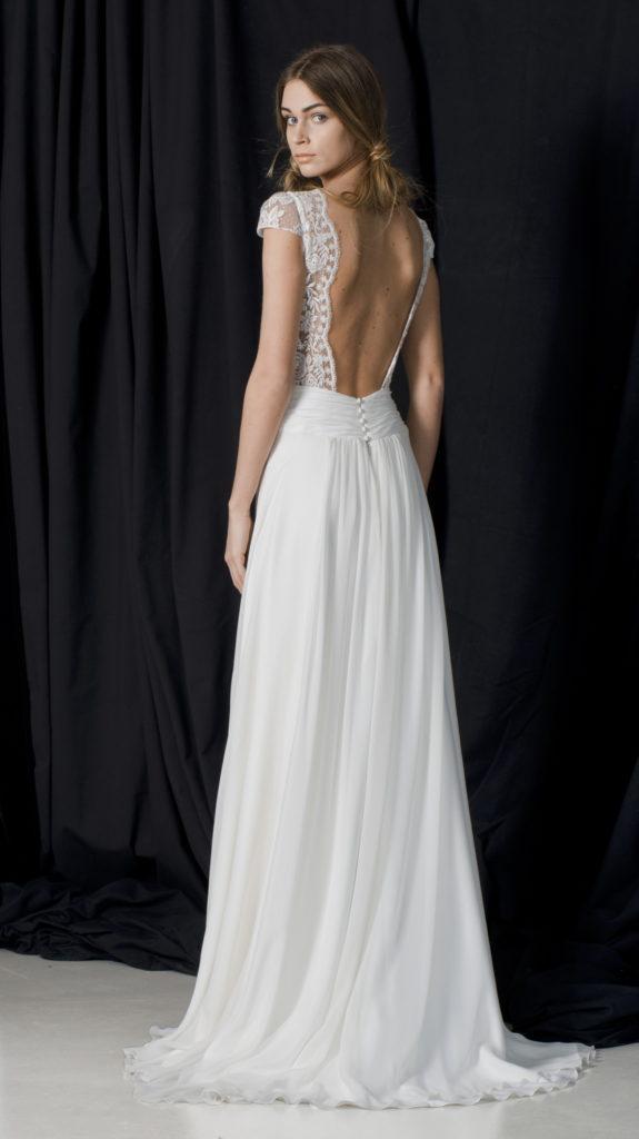 Robe de mariée romantique et fluide