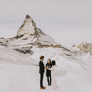 Wedding ceremony in Zermatt