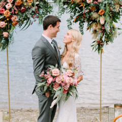 sara and shane's elopement ceremony by Arnensee
