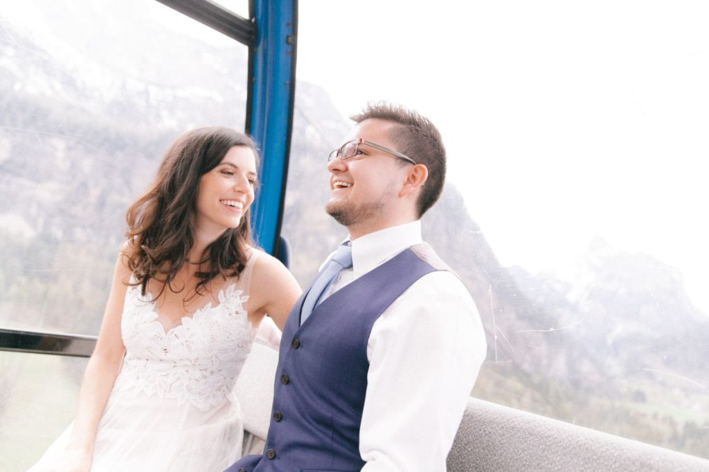 Couple in a cable car