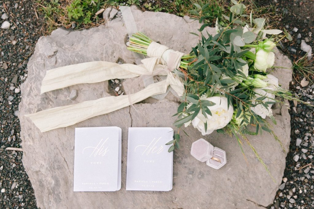 Details of a mountain wedding