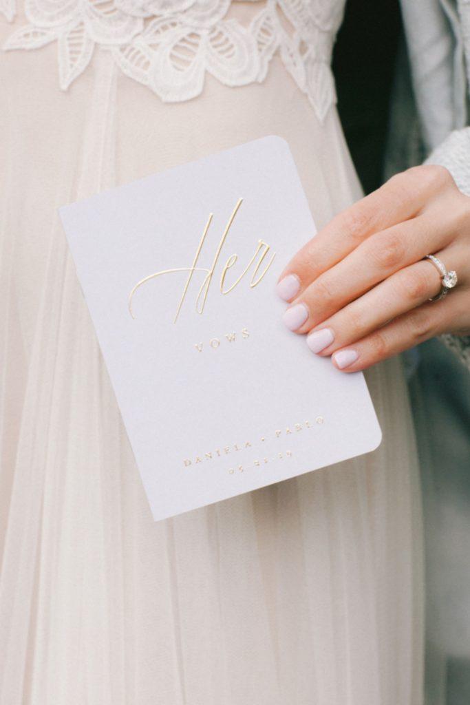 Bride's wedding vows