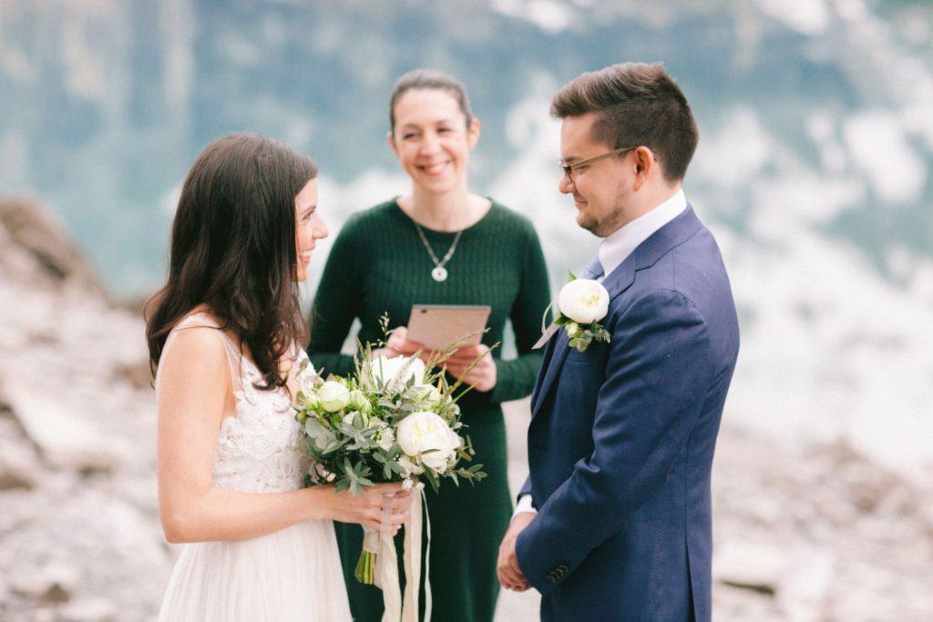 Elopement wedding ceremony