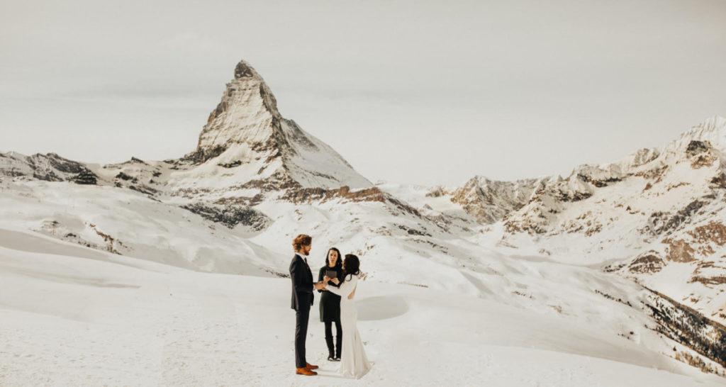 Wedding ceremony in Zermatt