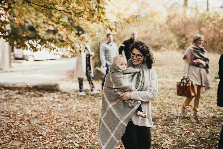 Teri-Rose et sa maman avant la cérémonie laïque