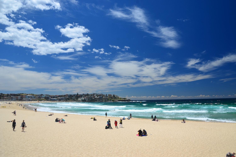 Plage de Bondi Beach à Sydney