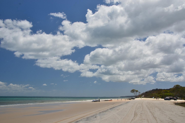 Plage paradisiaque à Fraser Island