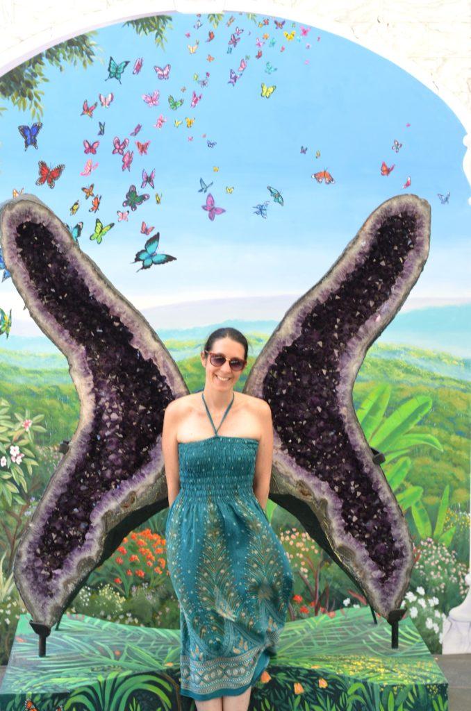 Cristaux en forme d'ailes de papillon