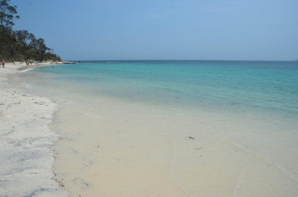 Plage de sable blanc à Jervis Bay