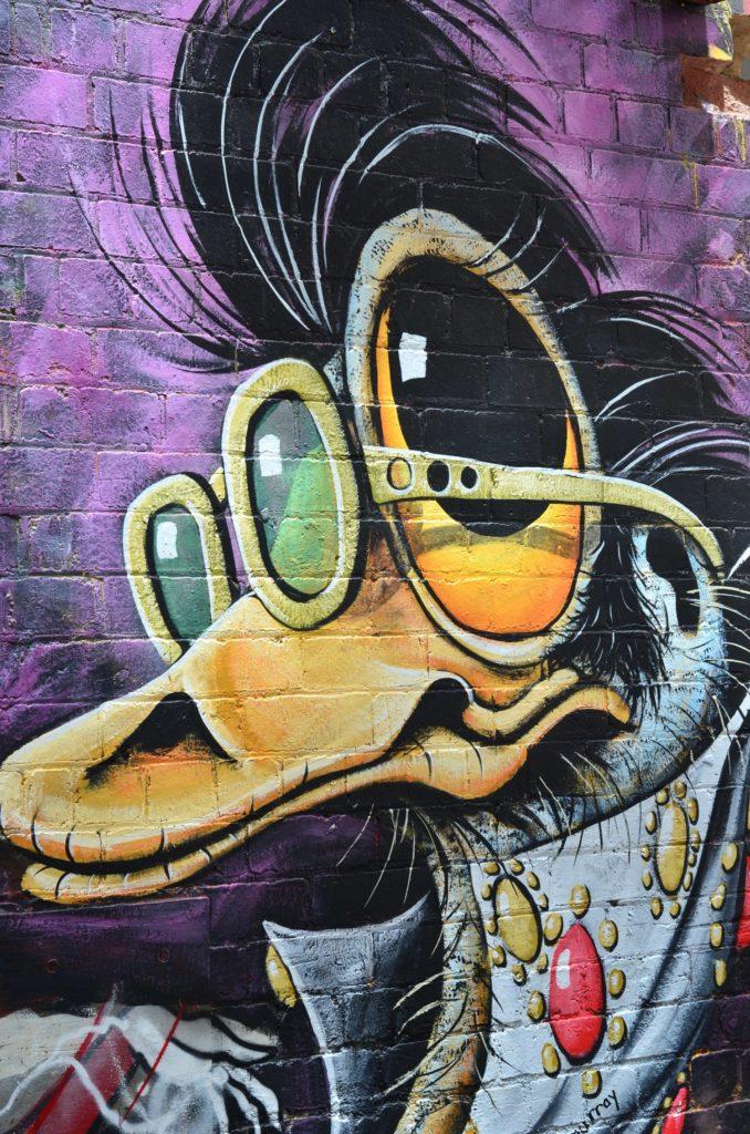 Graffiti sur les murs de Melbourne