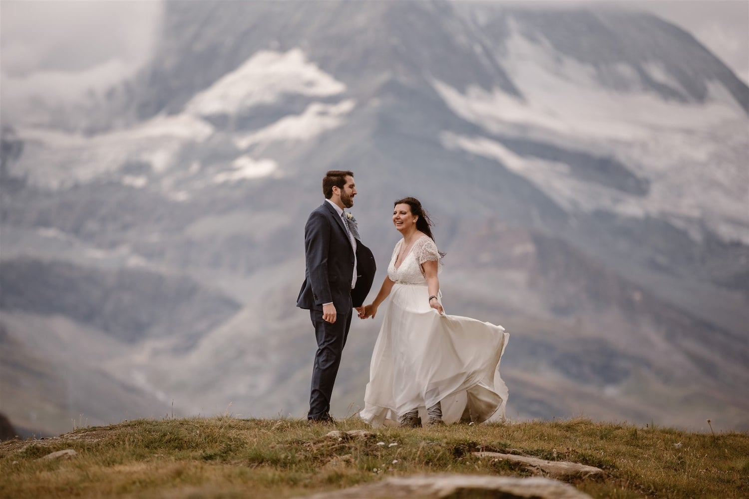 Couple in love in Zermatt