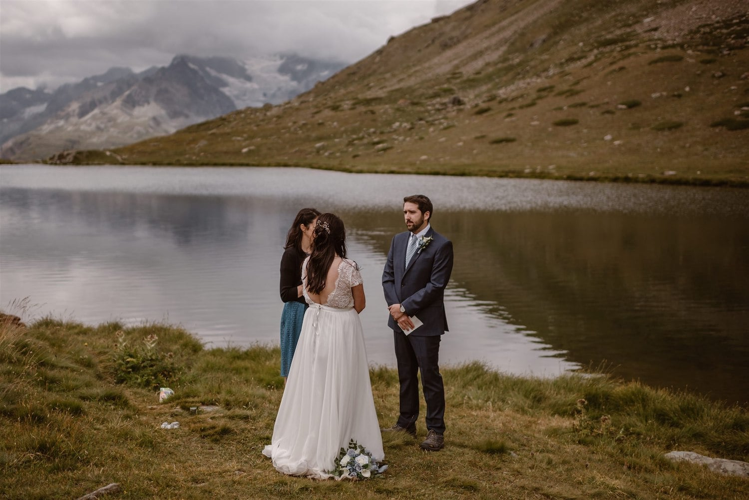 Amazing marriage ceremony and landscape in Zermatt, Switzerland