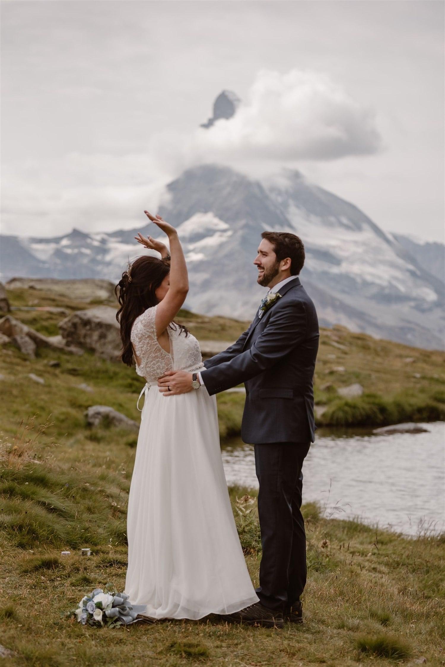Fun elopement in Zermatt