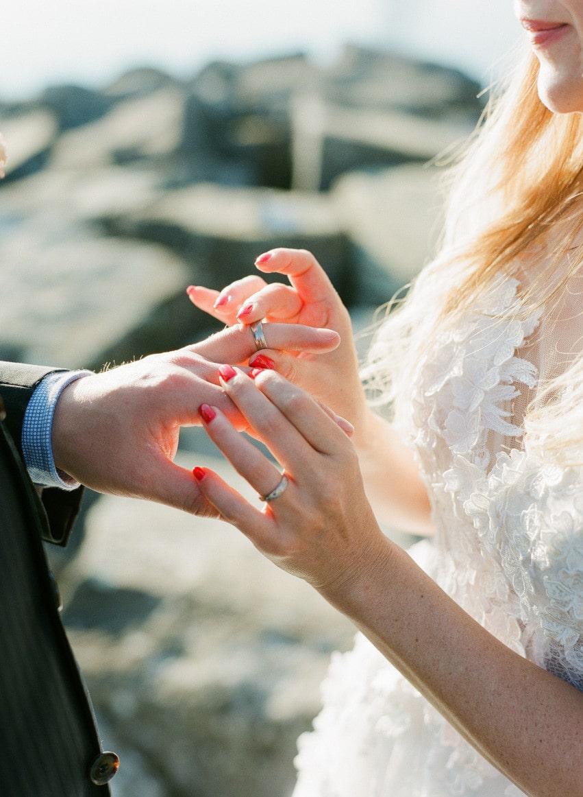 Cérémonie de mariage en toute intimité