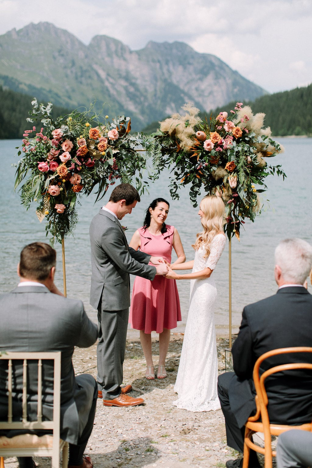 an elopement ceremony by marylin rebelo in Gstaad