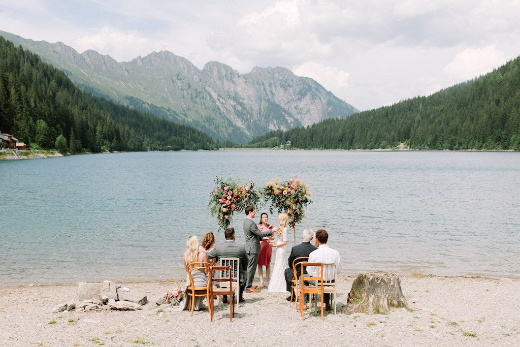 a glamorous Swiss elopement in Gstaad