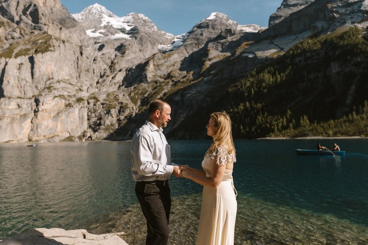 cérémonie de mariage oeschinensee