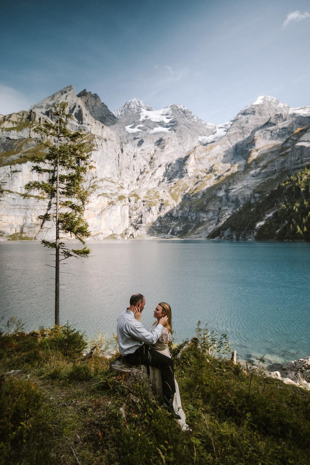 ceremonie elopement oeschinensee suisse