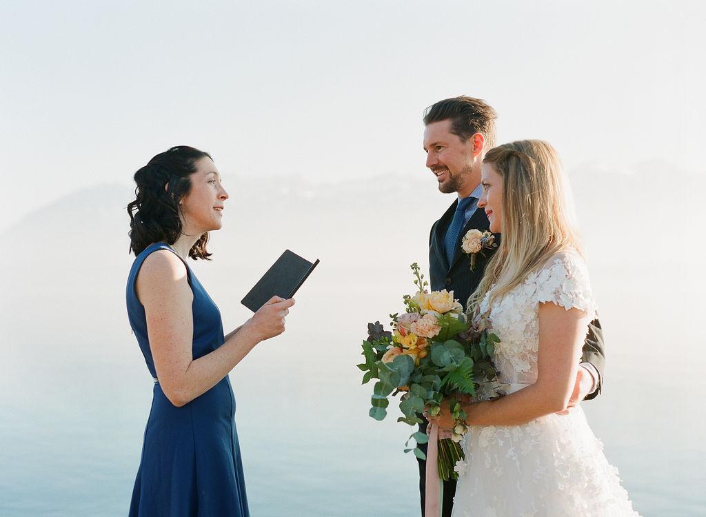 Un mariage laïque en Suisse